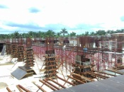 Scaffolding for slab level 1 podium block C in progress
