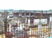 Tower A ground floor slab formwork in progress