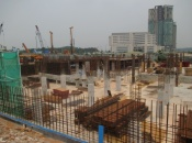 Tower B ground floor slab progress