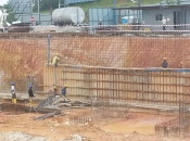 Construction of sub-basement retaining wall